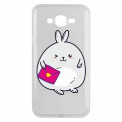 Чохол для Samsung J7 2015 Rabbit with a letter