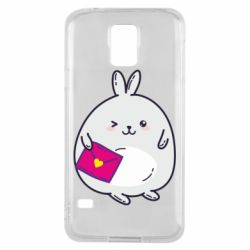 Чохол для Samsung S5 Rabbit with a letter
