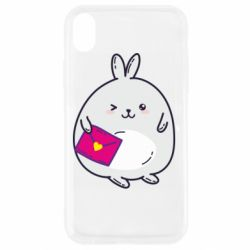 Чехол для iPhone XR Rabbit with a letter