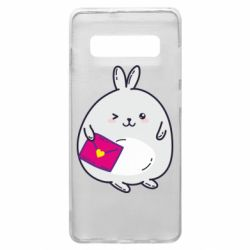 Чохол для Samsung S10+ Rabbit with a letter