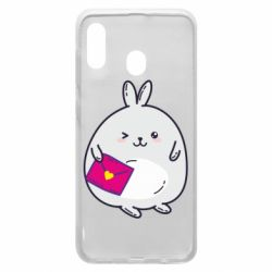 Чехол для Samsung A30 Rabbit with a letter