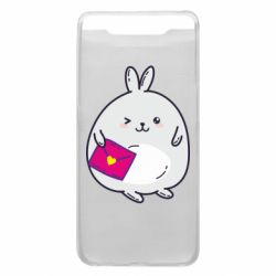 Чохол для Samsung A80 Rabbit with a letter