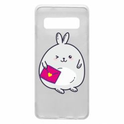 Чохол для Samsung S10 Rabbit with a letter