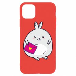 Чохол для iPhone 11 Rabbit with a letter