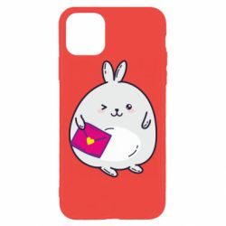 Чохол для iPhone 11 Pro Max Rabbit with a letter