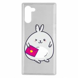 Чохол для Samsung Note 10 Rabbit with a letter