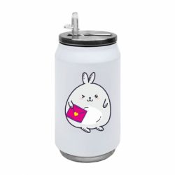 Термобанка 350ml Rabbit with a letter