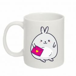 Кружка 320ml Rabbit with a letter