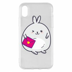 Чохол для iPhone X/Xs Rabbit with a letter