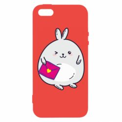 Чехол для iPhone5/5S/SE Rabbit with a letter