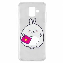 Чохол для Samsung A6 2018 Rabbit with a letter