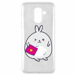 Чехол для Samsung A6+ 2018 Rabbit with a letter