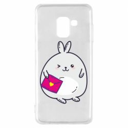 Чохол для Samsung A8 2018 Rabbit with a letter