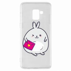 Чохол для Samsung A8+ 2018 Rabbit with a letter