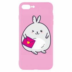 Чохол для iPhone 8 Plus Rabbit with a letter
