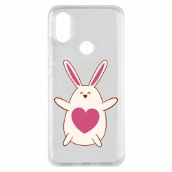 Чехол для Xiaomi Mi A2 Rabbit with a pink heart