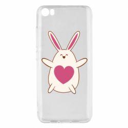 Чехол для Xiaomi Mi5/Mi5 Pro Rabbit with a pink heart