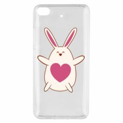 Чехол для Xiaomi Mi 5s Rabbit with a pink heart