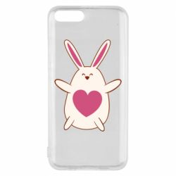 Чехол для Xiaomi Mi6 Rabbit with a pink heart