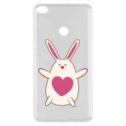 Чехол для Xiaomi Mi Max 2 Rabbit with a pink heart