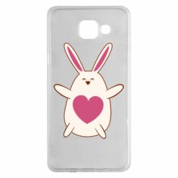 Чехол для Samsung A5 2016 Rabbit with a pink heart