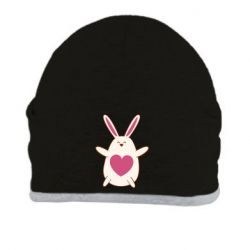 Шапка Rabbit with a pink heart