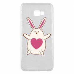 Чехол для Samsung J4 Plus 2018 Rabbit with a pink heart