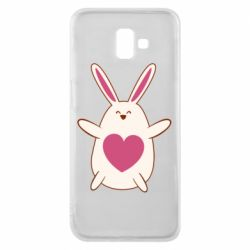 Чехол для Samsung J6 Plus 2018 Rabbit with a pink heart