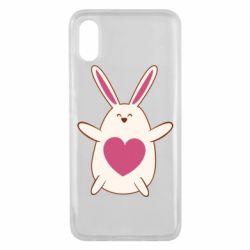 Чехол для Xiaomi Mi8 Pro Rabbit with a pink heart