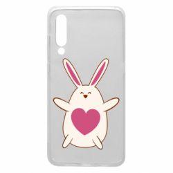 Чехол для Xiaomi Mi9 Rabbit with a pink heart