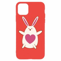 Чехол для iPhone 11 Pro Max Rabbit with a pink heart