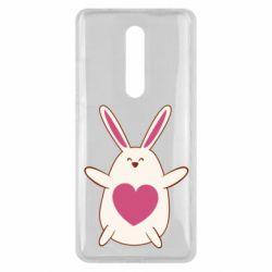 Чехол для Xiaomi Mi9T Rabbit with a pink heart