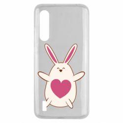 Чехол для Xiaomi Mi9 Lite Rabbit with a pink heart