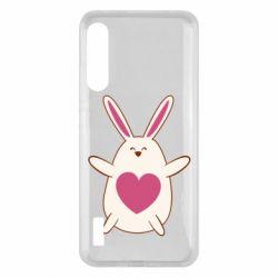 Чохол для Xiaomi Mi A3 Rabbit with a pink heart
