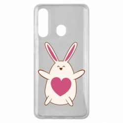 Чехол для Samsung M40 Rabbit with a pink heart