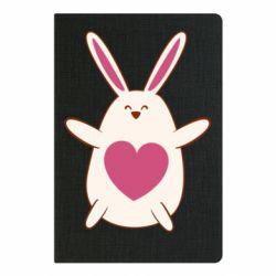 Блокнот А5 Rabbit with a pink heart