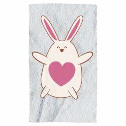 Полотенце Rabbit with a pink heart