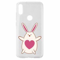 Чехол для Xiaomi Mi Play Rabbit with a pink heart