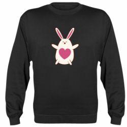 Реглан (свитшот) Rabbit with a pink heart