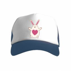 Детская кепка-тракер Rabbit with a pink heart