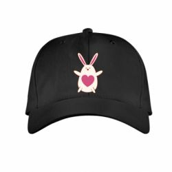 Детская кепка Rabbit with a pink heart