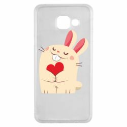 Чехол для Samsung A3 2016 Rabbit with heart