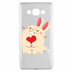 Чехол для Samsung A5 2015 Rabbit with heart