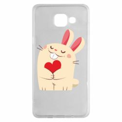 Чехол для Samsung A5 2016 Rabbit with heart