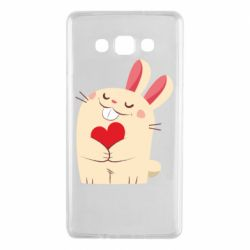 Чехол для Samsung A7 2015 Rabbit with heart