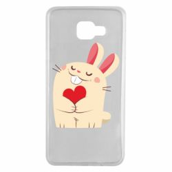 Чехол для Samsung A7 2016 Rabbit with heart