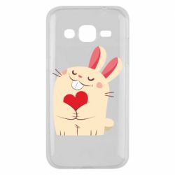 Чехол для Samsung J2 2015 Rabbit with heart