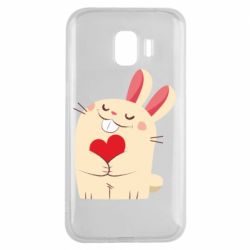 Чехол для Samsung J2 2018 Rabbit with heart