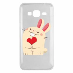 Чехол для Samsung J3 2016 Rabbit with heart