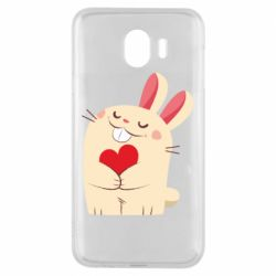 Чехол для Samsung J4 Rabbit with heart